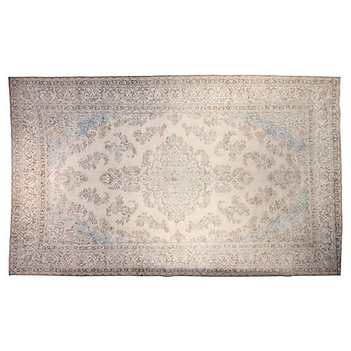 "11'x18'5"" Jefferson Hand-Knotted Rug, Ivory"
