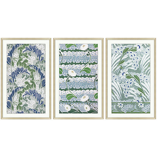 One Kings Lane, Vintage Pattern 1-3 Triptych