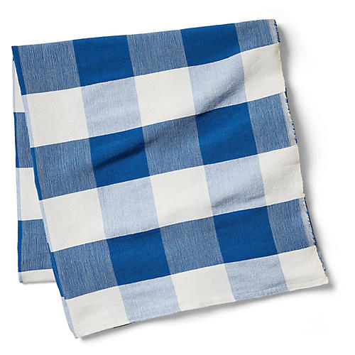 Buffalo-Check Beach Blanket, Blue