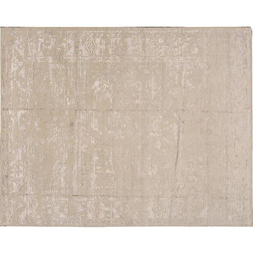 "7'11""x10'1"" Modern Abstract Rug, Beige"