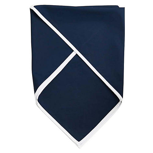 Signature Cotton Scarf, Navy/White