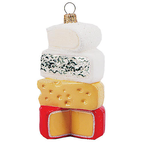 Cheese Ornament, Yellow/Multi
