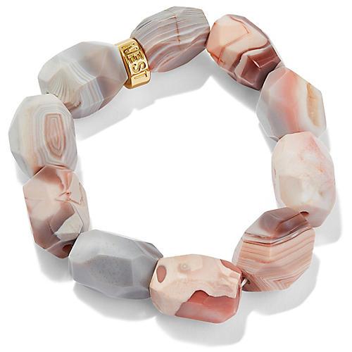 Botswana Stretch Bracelet, Pink