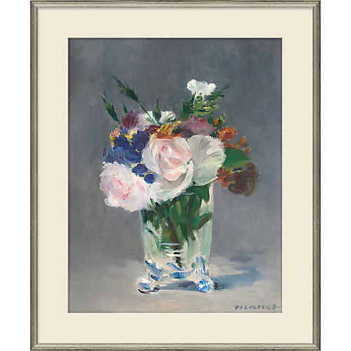 , Flowers in a Glass Vase