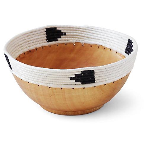 """8"""" Copabu Triangle Decorative Bowl, Natural/Multi"""
