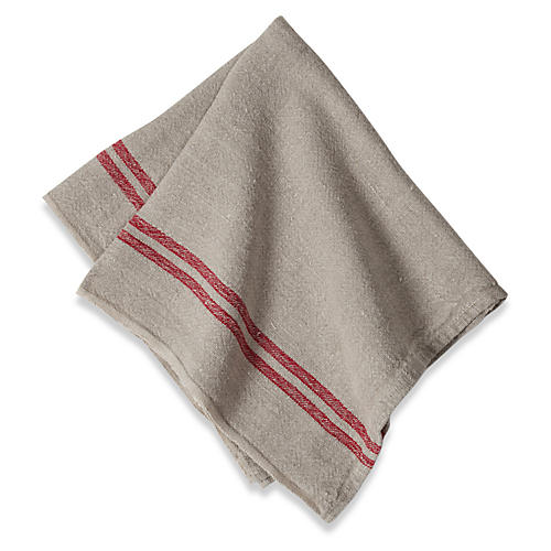 S/4 Wagner Tea Towels, Natural