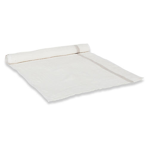 Durante Table Runner, White