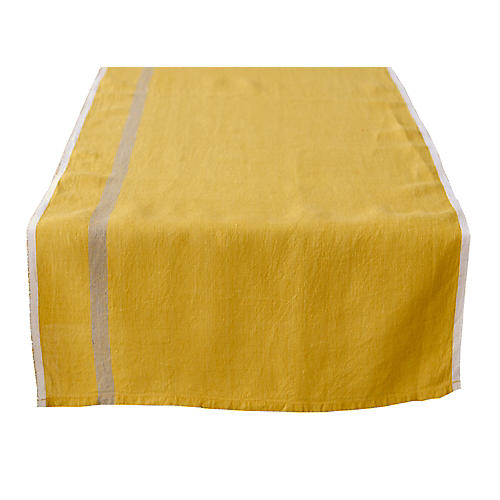 Coccia Table Runner, Mustard