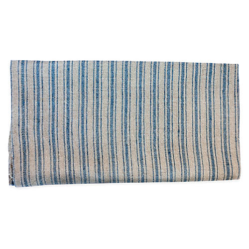 S/2 Copland Tea Towels, Natural/Blue