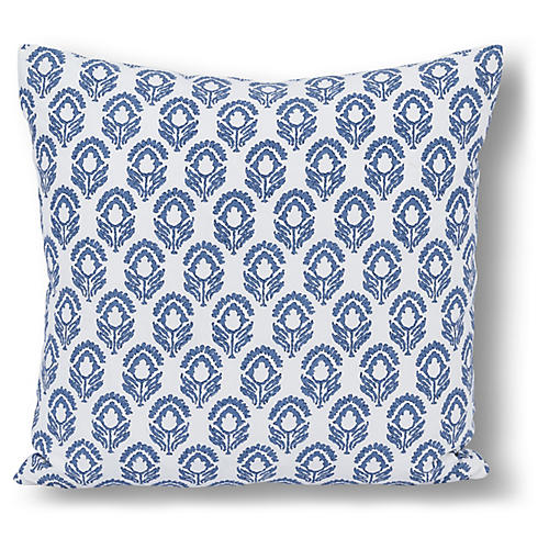 Bodhi 20x20 Pillow, Blue Jasmine