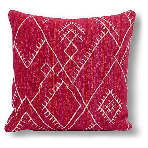 Zaire 20x20 Pillow, Red/Pink