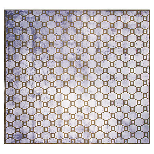 11'x11' Star Hand-Knotted Rug, Blue
