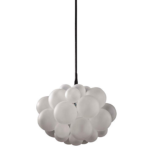 31-Bubble Chandelier, Frosted/Black