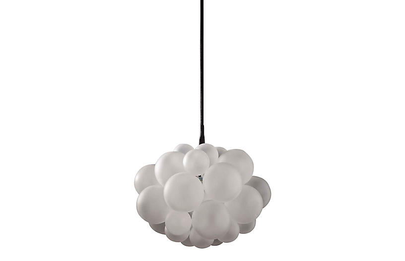 Thirty One Bubble Chandelier, Frosted