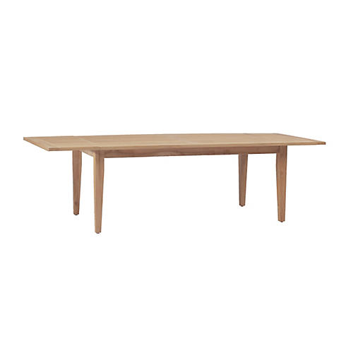 Club Teak Extension Dining Table, Natural