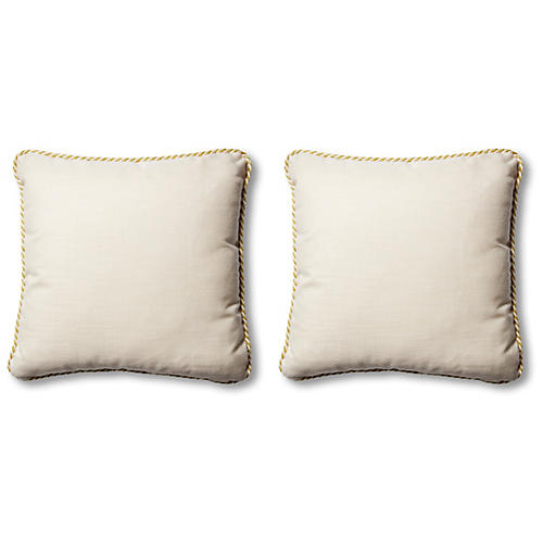 S/2 Classic Outdoor Pillows, Natural