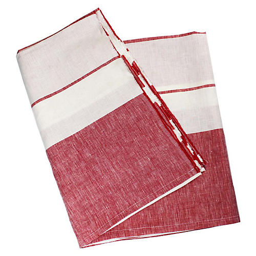 Majorca Beach Towel, Red