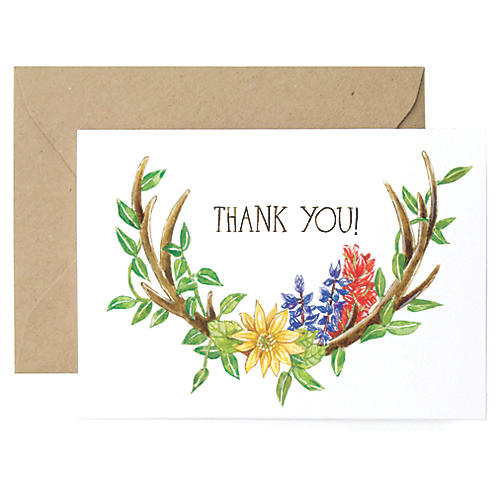 S/8 Antlers Thank You Cards