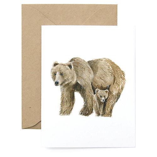 S/8 Bear Note Cards