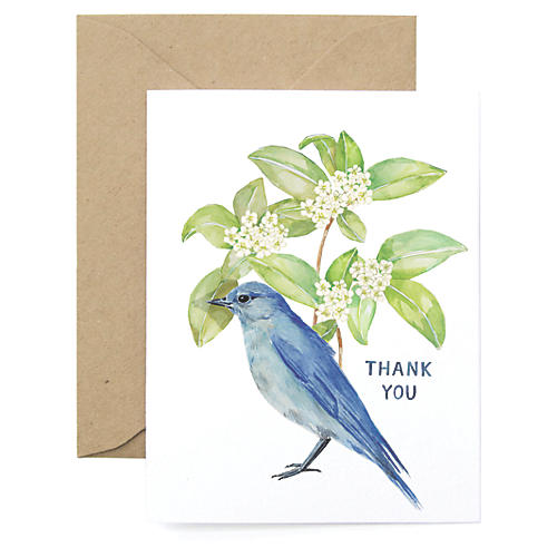 S/8 Bluebird Thank You Cards