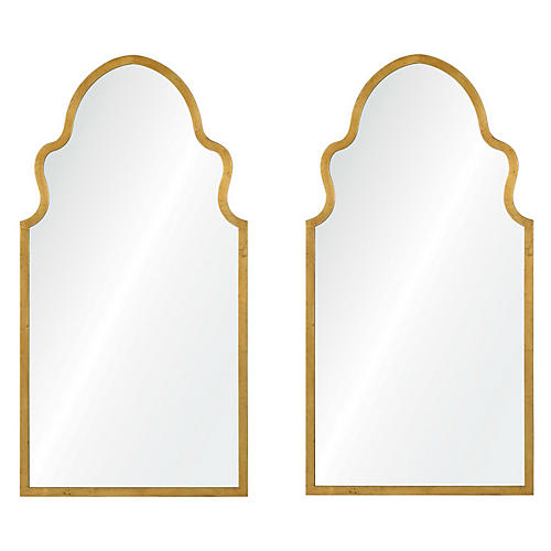 Lincoln Wall Mirrors, Gold Leaf