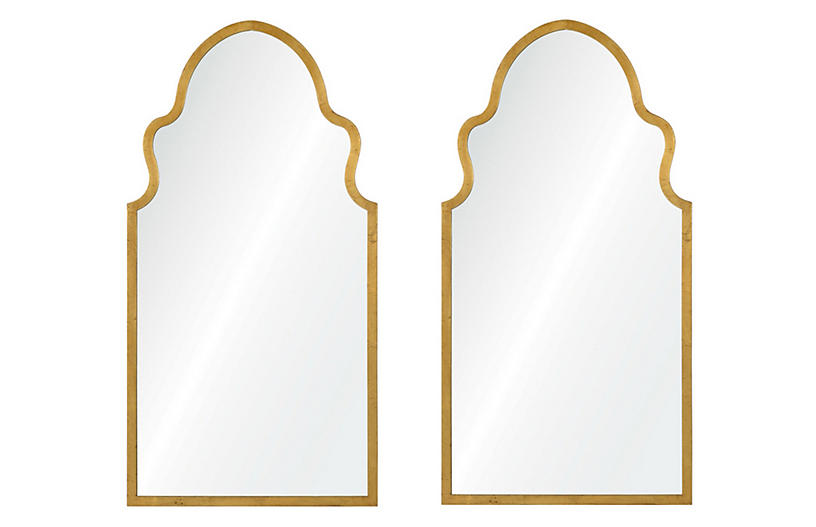 Bianca Wall Mirrors, Gold Leaf