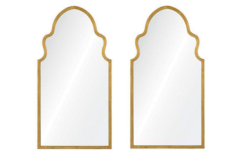 Bianca Wall Mirrors, Gold Leaf