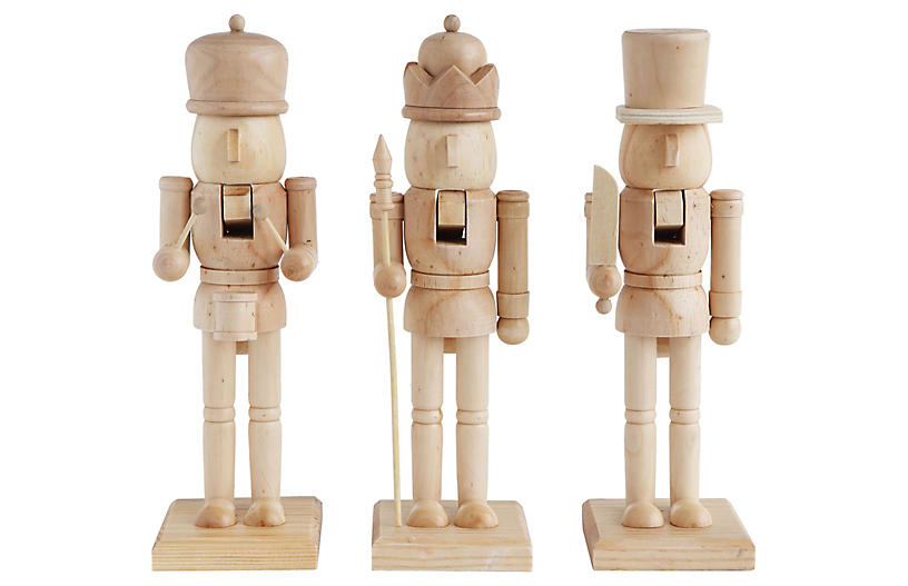 Wooden Nutcrackers, Natural