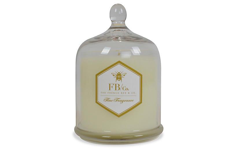 Cloche Candle, Peony Petals