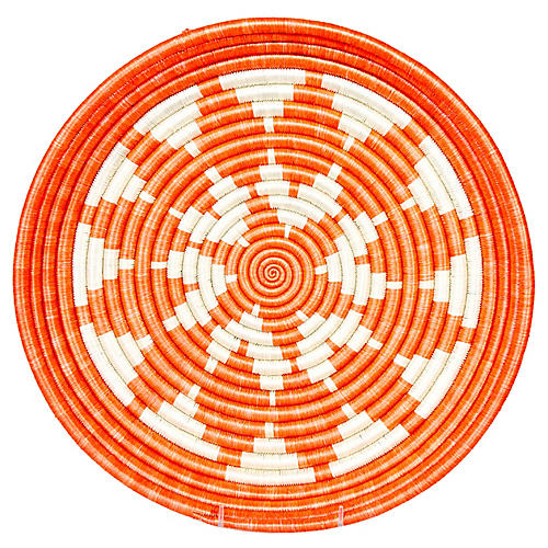 "16"" Kei Lira Decorative Tray, Blazing Orange"