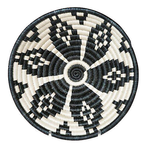 "6"" Karew Lira Basket, Black/White"