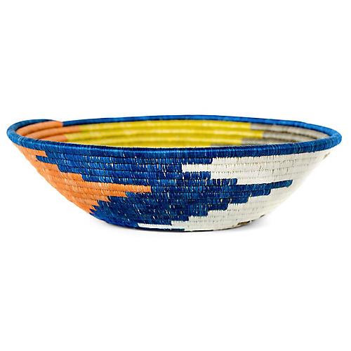 "12"" Korren Kaliro Basket, Russet/Blue"