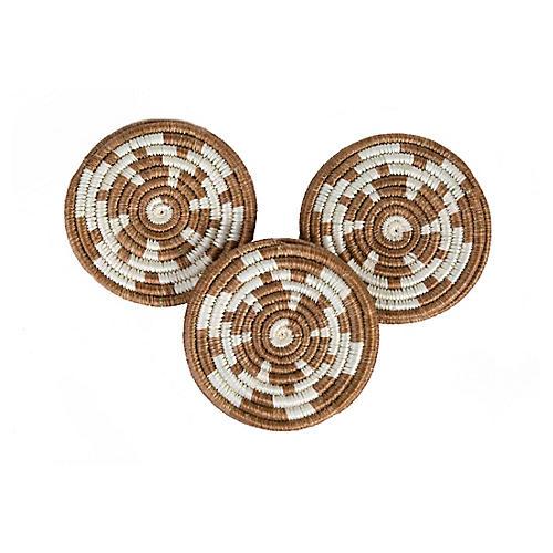 S/6 Hope Kitale Coasters, Brown Sugar