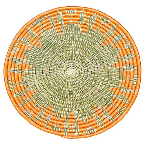 Intore Burst Place Mat, Blazing Orange/Natural