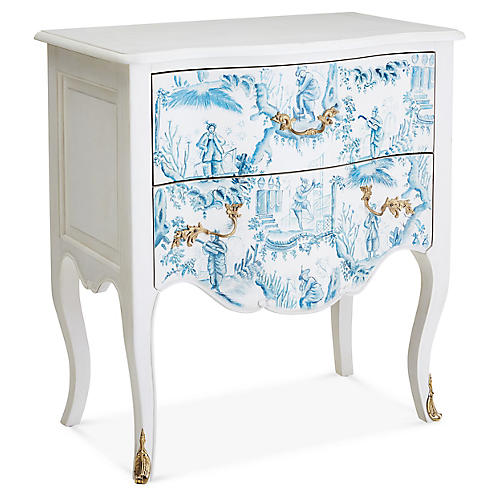 Bombay Chest, Blue/White