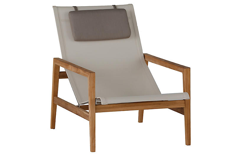 Coast Outdoor Easy Chair, Ivory