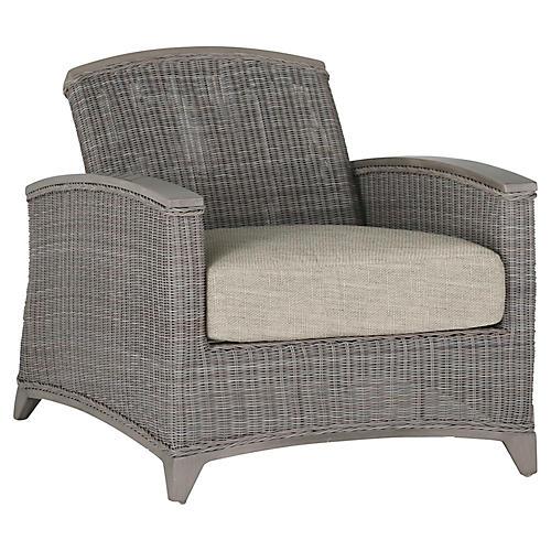 Astoria Reclining Club Chair, Dove Sunbrella