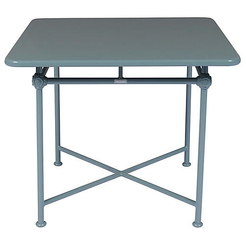 1800 Square Outdoor Dining Table, Blue
