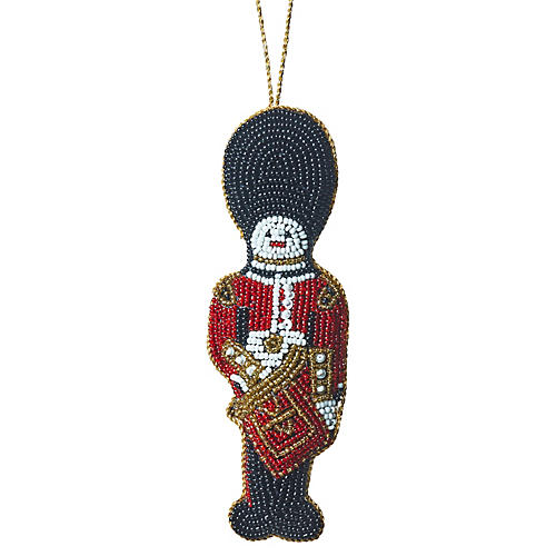 Buckingham Palace Bobby Beaded Ornament, Red/Multi