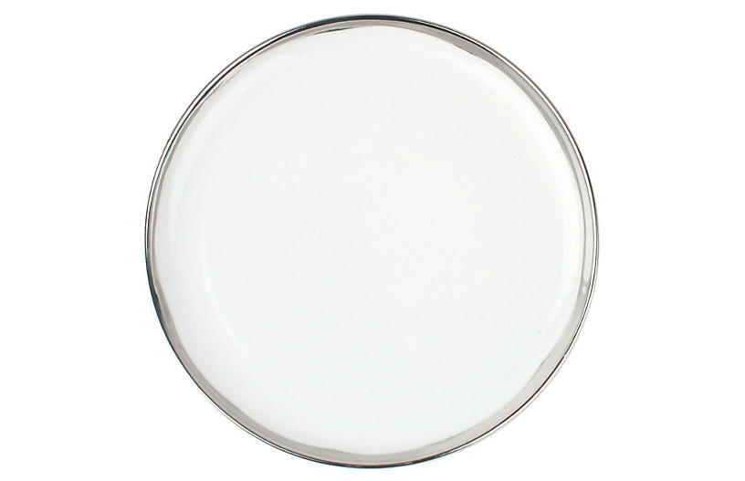 S/4 Dauville Salad Plates, Platinum
