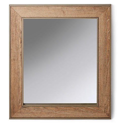 Lowell Mirror, Oak/Gray