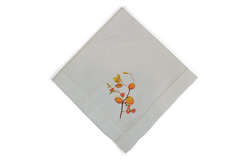 Quince Dinner Napkin - White - The French Bee