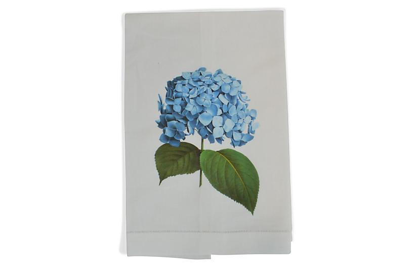 Hydrangea Guest Towel, White/Multi