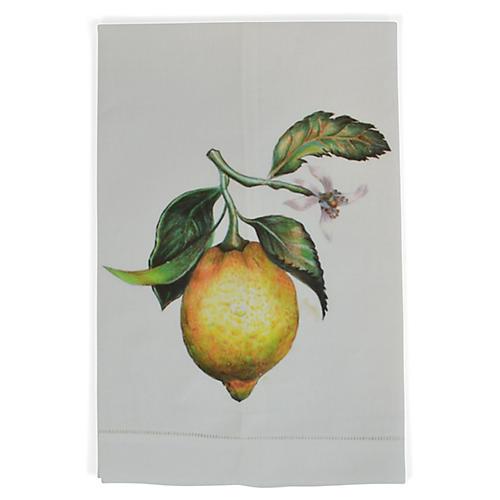 Lemon Guest Towel, White/Multi