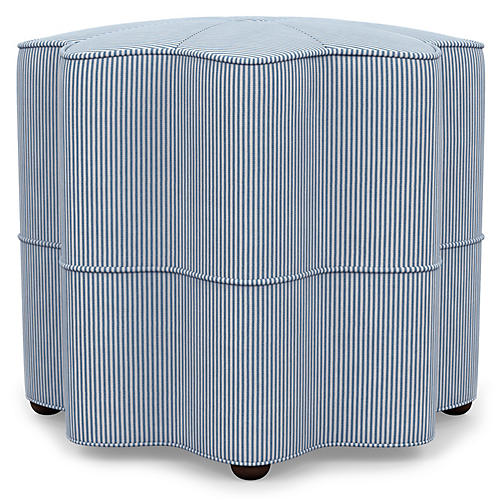 Stella Stool, Blue Stripe