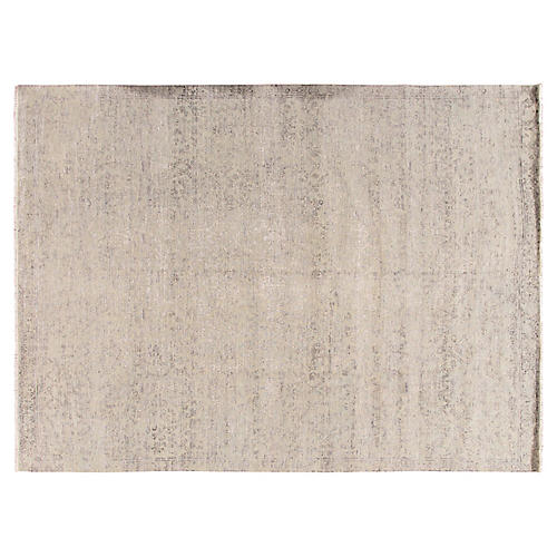 9'x12'2 Transitional Hand-Knotted Rug, Gray