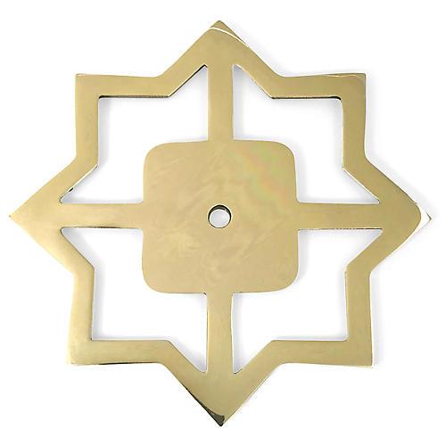 Woodard Backplate, Brass