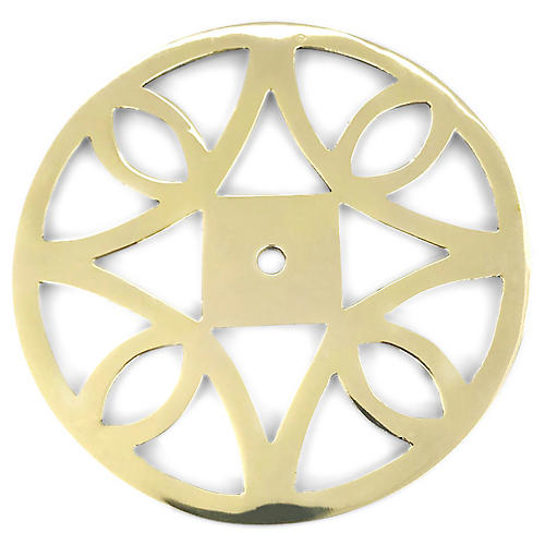 Windsor Backplate, Brass