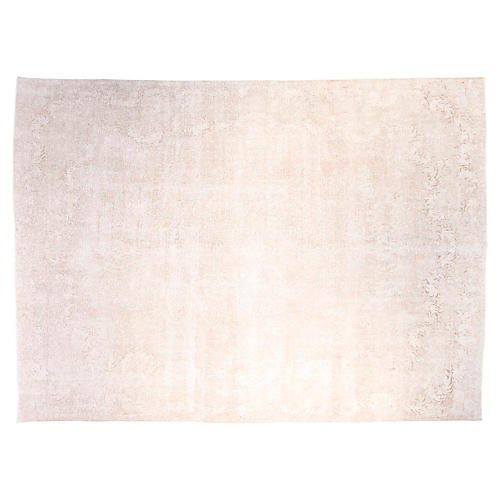 "9'6""x12'6"" Heidi Hand-Knotted Rug, Cream"