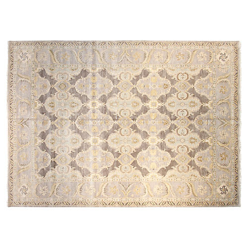 10'x14' Sari Lincoln Hand-Knotted Rug, Gray/Multi